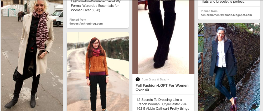 READING: I have been reading about fashion for women over 40. Which I keep on a secret Pinterest board because I'm embarrassed to admit that I care. And that I no longer know how to dress.