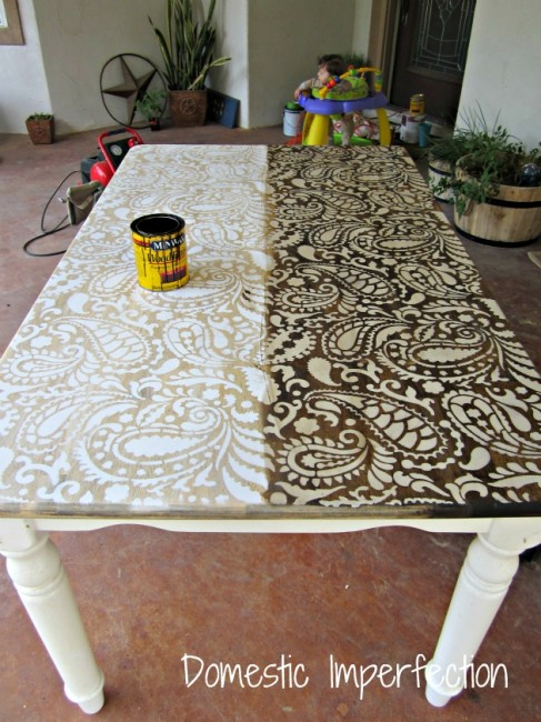 You know, like this great table top from Domestic Imperfection.