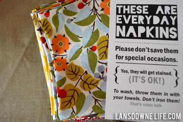 landsdown life napkins