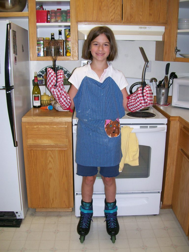 (I did let her wear roller skates in the house, though.)
